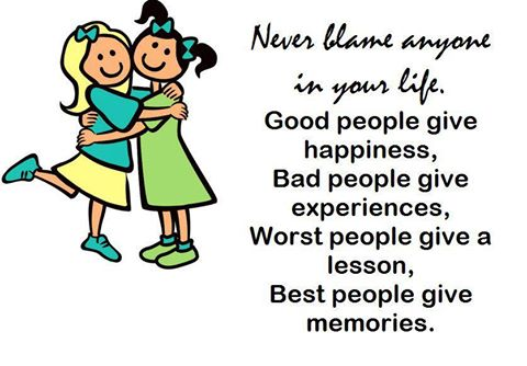 never blame anyone 1