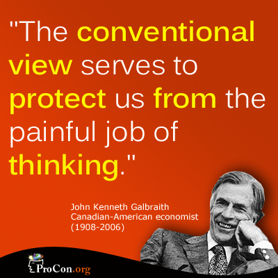 conventional Wisdom and painful thinking