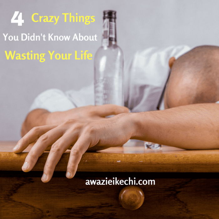 What You Don't Know About Wasting Your Life