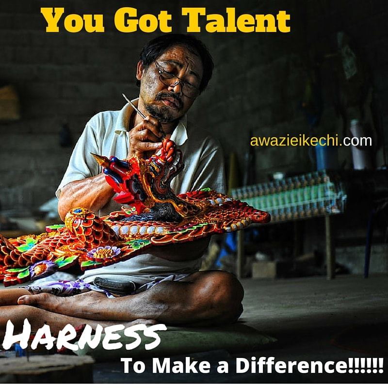 You Got Talent: Harness to Make a Difference
